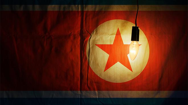 北朝鮮国旗&裸電球