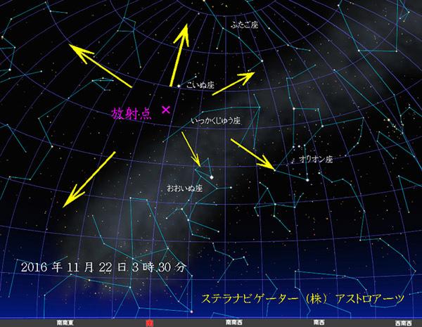 いっかくじゅう座流星群20161122-01