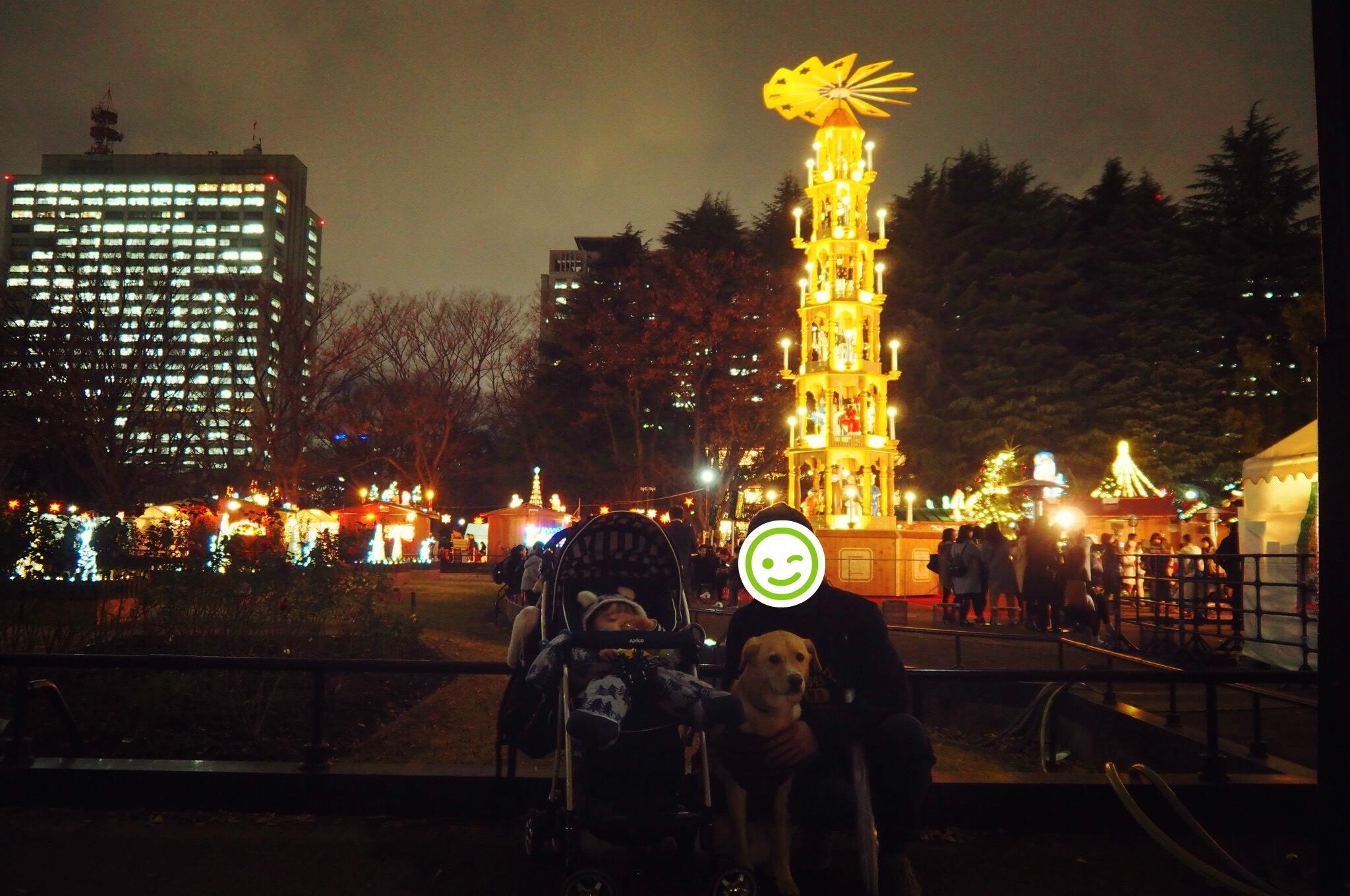 日比谷公園 東京クリスマスマーケット 犬 わんこ