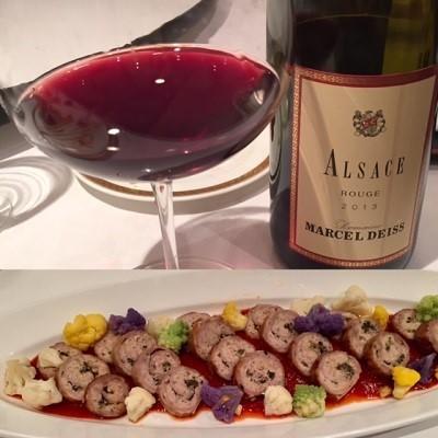 赤ワインと豚さん料理