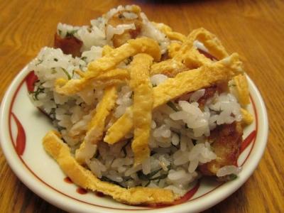 アマダイの竜田揚げ混ぜご飯小皿4