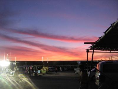 まるかつ・港の朝焼け