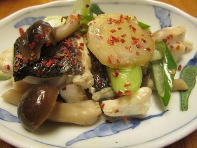 スズキの中華蒸し小皿2