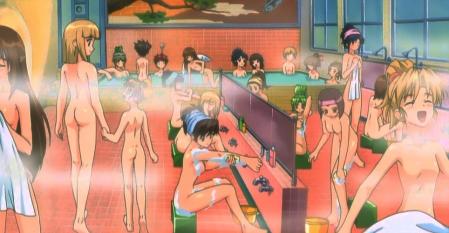 円盤皇女ワるきゅーレ十二月の夜想曲 銭湯の女性客の全裸ヌード入浴シーン14