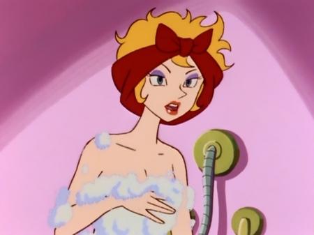ヤッターマン1977 ドロンジョ様の胸裸ヌード入浴シーン17