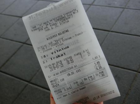 ヴィリニュス~トラカイ バス移動5