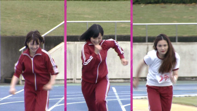 50m走に挑戦する竹内由恵