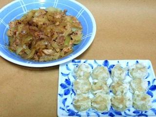 170120_4404 豚肉と玉葱の生姜炒め・蒸しシウマイVGA
