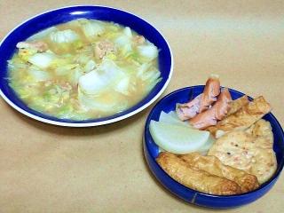 170120_4405 白菜と鶏肉の中華風味噌炒め・練り物のおでんVGA