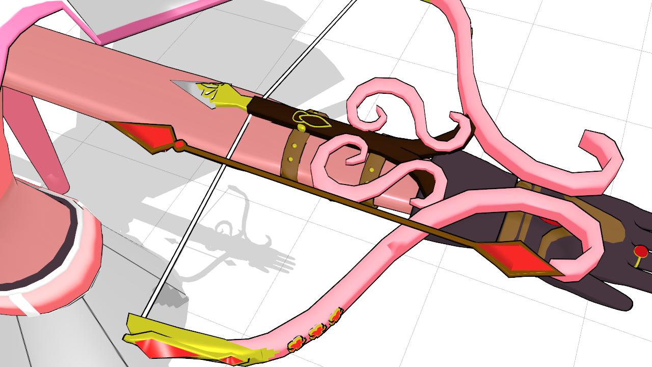 2016/12/29 MMD環いろはモデル製作中 クロスボウの矢と土台