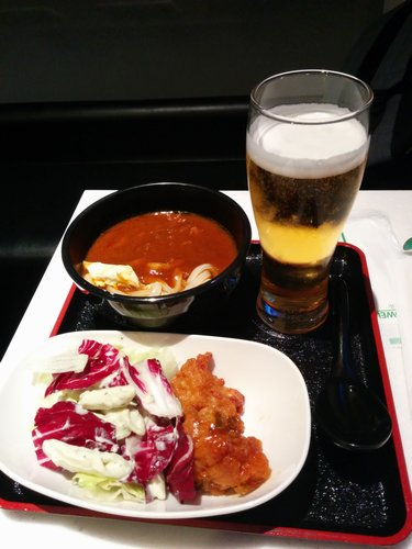 ANA HND Lounge Meal