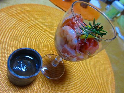 カルパッチョ&梅しそジュース