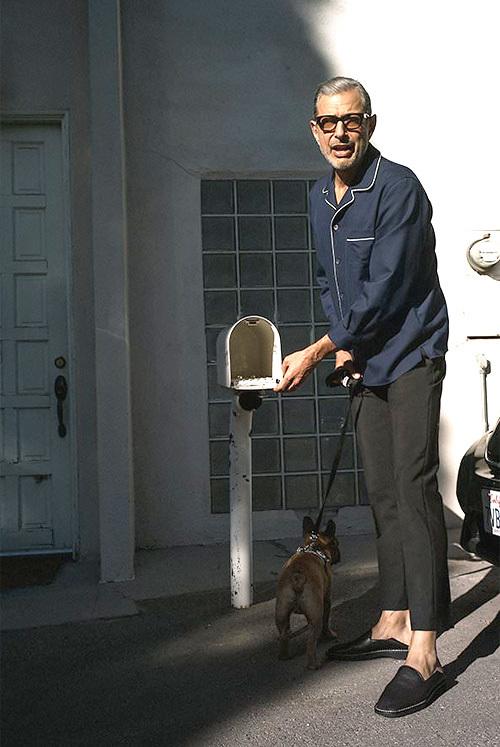 ジェフ・ゴールドブラム(Jeff Goldblum):グッチ(Gucci)アクネ(Acne)メゾンマルタンマルジェラ(Maison Martin Margiela)