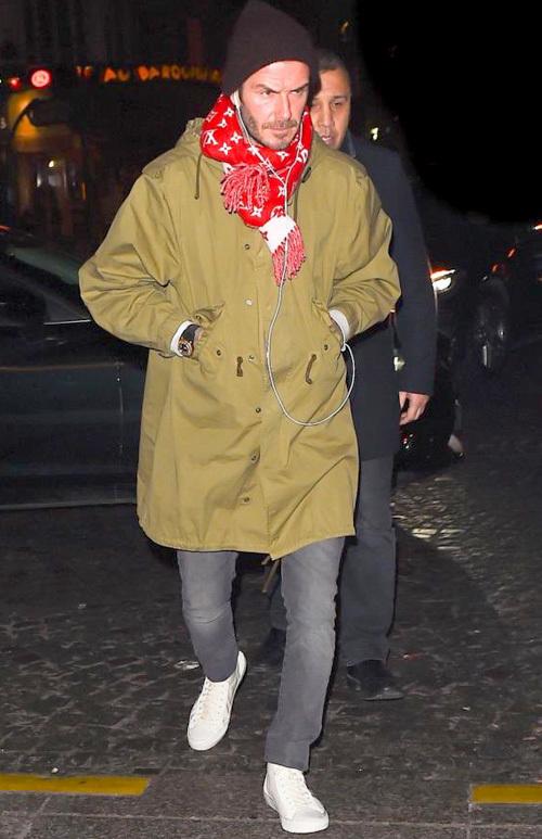 デヴィッド・ベッカム(David Beckham):ケント・アンド・カーウェン(Kent And Curwen)サンローラン(Saint Laurent)ルイヴィトン(Louis Vuitton)