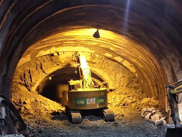 事故前日のトンネル工事現場