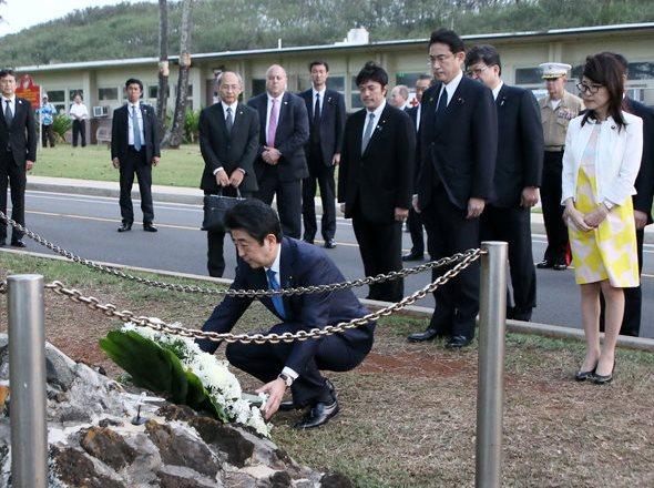 12月27日 飯田房太中佐記念碑訪問