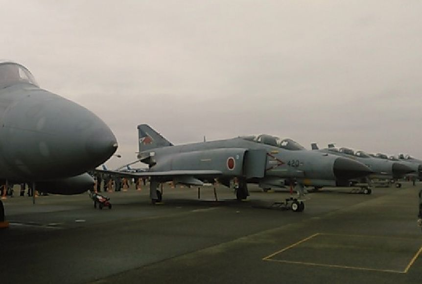 F4ファントム戦闘機の模擬緊急発進