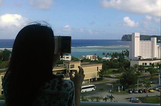 グアムホテル部屋からの景色