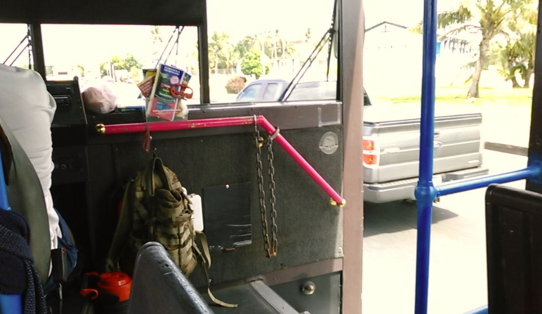 恋人岬バスはドアも窓もありません
