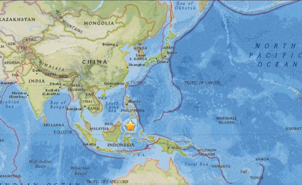 20170110 世界の地震の発生