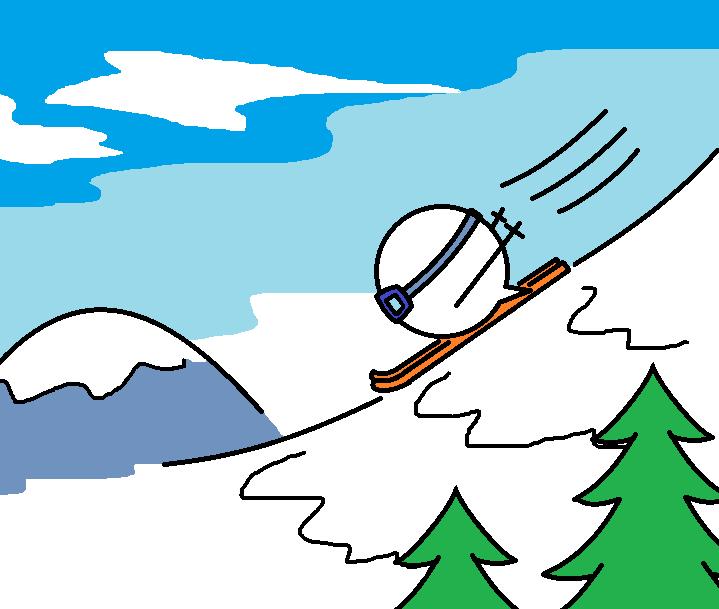 366つちのこスキーをする3