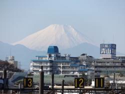 20161202三鷹跨線橋からの富士山3