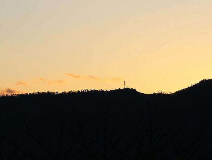 太陽が沈む 2016最後の夕焼け 28.12.31