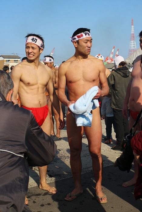 新春初泳ぎ終わって 29.1.1