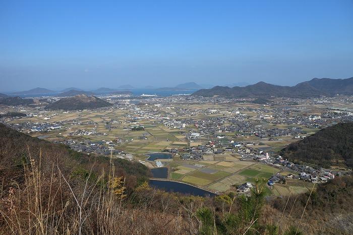 爺神山山頂から北方面 29.1.3