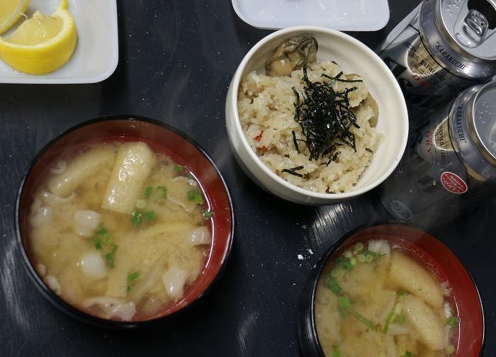カキ飯とお汁 29.2.5