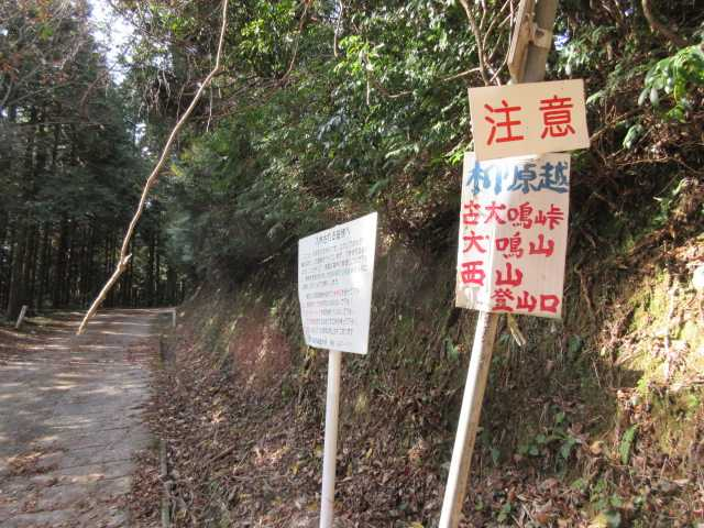 IMG6438JPG猫峠石碑下のコンクリ林道