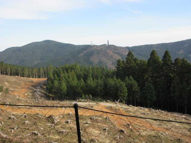 IMG6463JPG伐採地と建設中の鉄塔