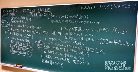 ☆12017 01 15 飯能アルプス会議