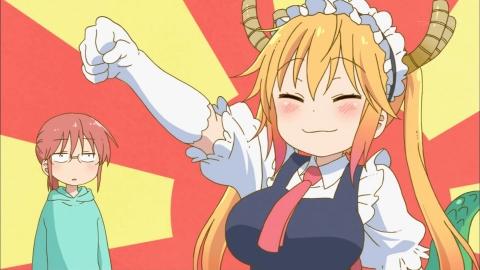 小林さんちのメイドラゴン 第1話 史上最強のメイド、トール!(まあドラゴンですから) アニメ実況 感想 画像