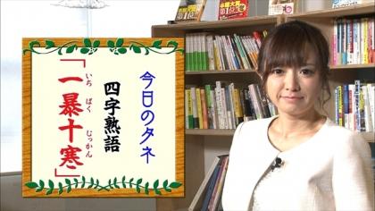 170126 朝ダネ 一暴十寒 紺野あさ美 (4)