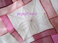 花模様 つまみ縫い ピンク オクサ