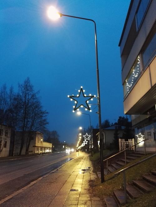 フィンランド クリスマスライト 田舎