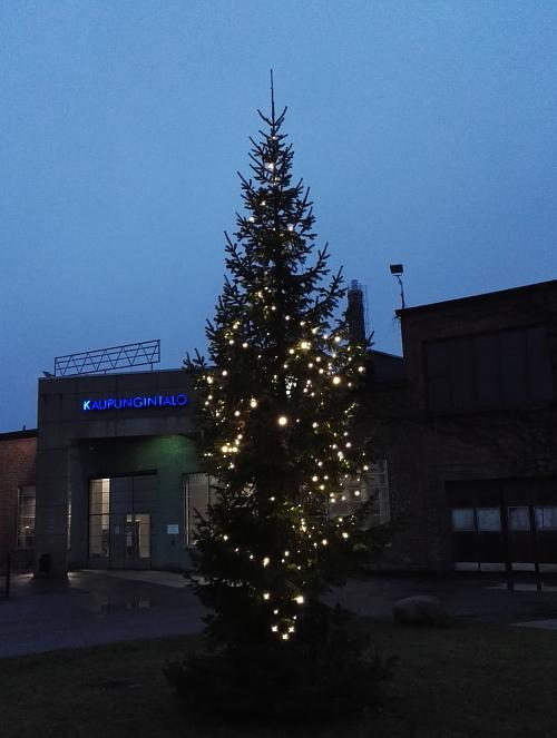 フィンランド 田舎 クリスマスライト