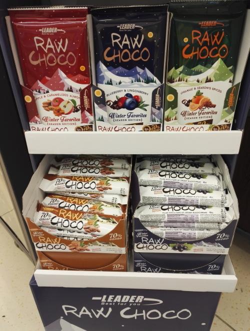 ローチョコレート Raw Chokolate フィンランド Lidl