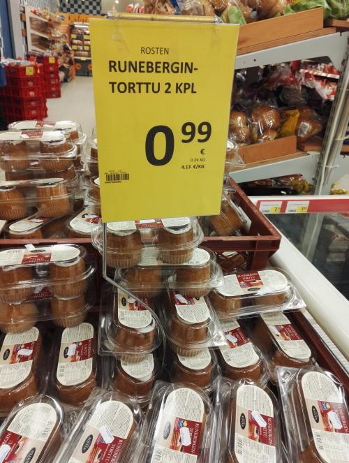 フィンランド ルーネベルギントルットゥ Runeberugin Torttu