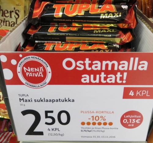 フィンランド レッドノーズ チョコ