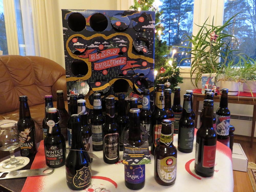 フィンランド フランス アドベントカレンダー ビール Olut Joulukalenteri