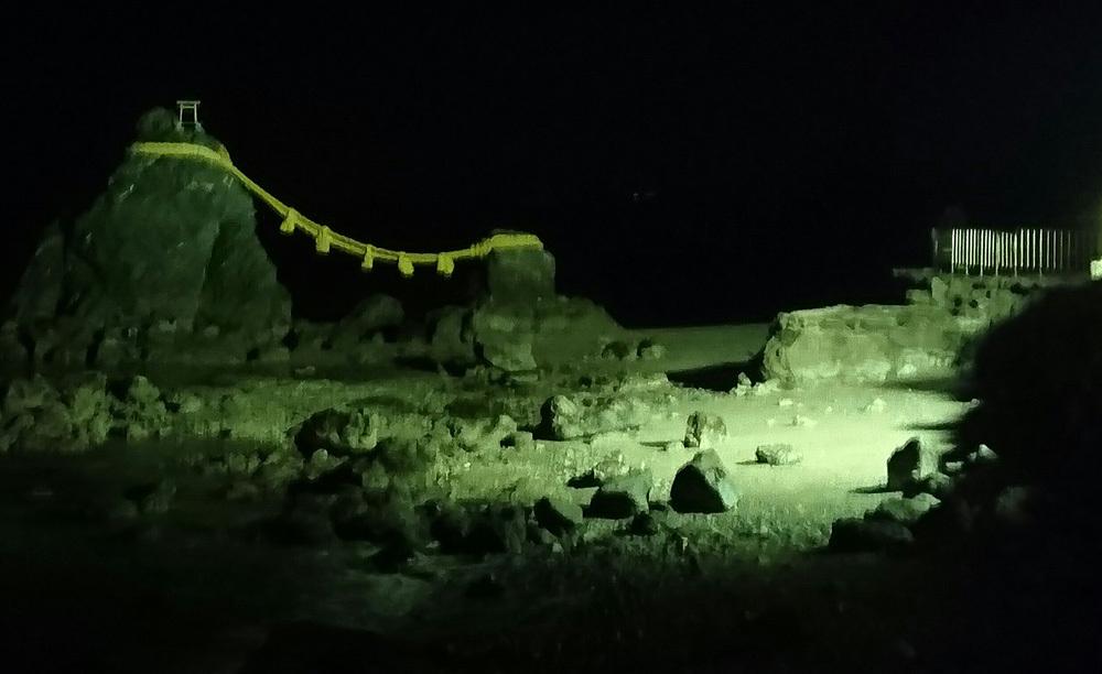 スマホ夫婦岩