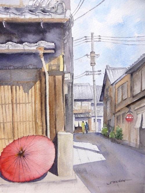 花見小路の番傘