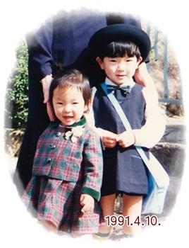 浩史の入園式1991年4月10日