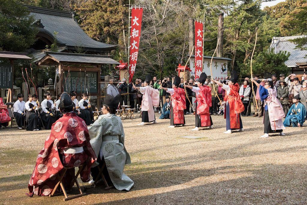 大和神社 弓始式 (2)