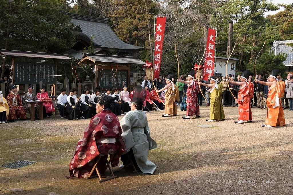 大和神社 弓始式 (3)