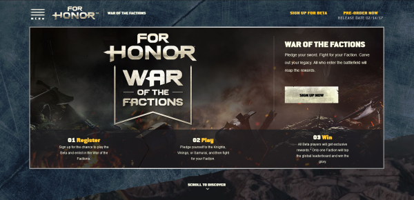 For Honor- War of Factions Ubisoft (US)