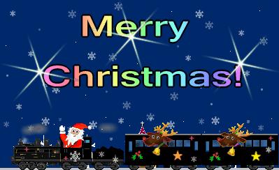 クリスマスカード鉄道