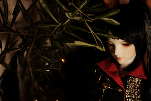 『戦国奇譚妖刀伝』の森蘭丸をモデルとした、Asleep Eidolon・Evanの蘭。高円寺にあるアンティークショップ・Piikaさんで撮影させて頂きました。